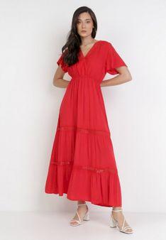 Czerwona Sukienka Selphie