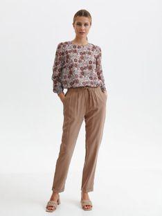 Luźne spodnie tkaninowe
