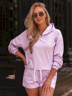 Komplet damski bluza + spodenki 010ZLR - fioletowy