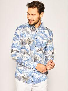 Strellson Koszula Core 30020207 Niebieski Regular Fit