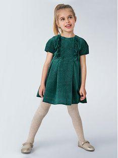 Mayoral Sukienka elegancka 4972 Zielony Regular Fit