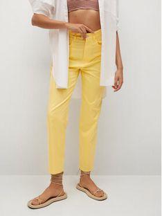 Mango Spodnie materiałowe Fives 17032027 Żółty Regular Fit