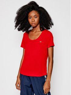 Tommy Jeans T-Shirt DW0DW09789 Czerwony Regular Fit