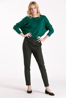Wizytowe spodnie z drobnym wzorem