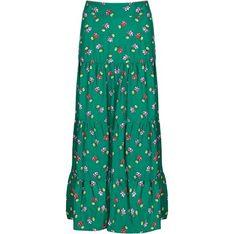 Spódnica Tova zielona z wiskozy