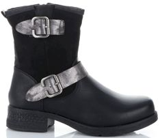 Firmowe Botki Damskie Lady Glory buty na każdą okazję wykonane z wysokiej jakości skóry eko Czarne (kolory)