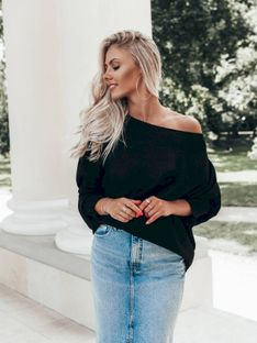 Sweter damski 010ELR - czarny