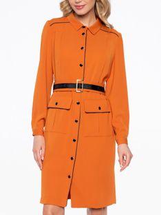 Sukienka szmizjerka z kieszeniami Potis & Verso RUBY
