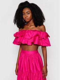 Guess Bluzka W1GH0K WDXM0 Różowy Regular Fit
