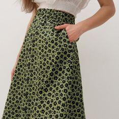 Reserved - Wzorzysta spódnica - Zielony