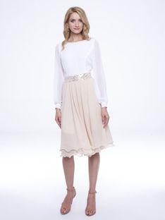 Elegancka sukienka z cekinowym zdobieniem L`AF JOEL