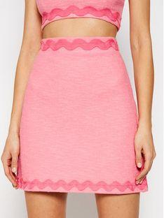 Pinko Spódnica mini Prudente PE 21 BLK01 1G15RF 8443 Różowy Regular Fit
