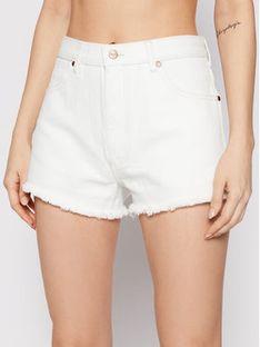 Wrangler Szorty jeansowe Festival W26FHQ29X Biały Regular Fit
