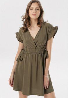 Ciemnozielona Sukienka Corraenelle