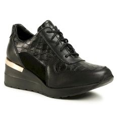 Sneakersy KARINO - 3153/157-P Czarny/Croco