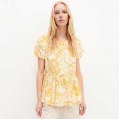 Reserved - Wzorzysta bluzka - Pomarańczowy