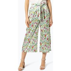 Spodnie damskie Rich & Royal wielokolorowe w kwiaty na wiosnę