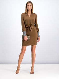 Marella Sukienka codzienna Picco 32261096 Brązowy Regular Fit
