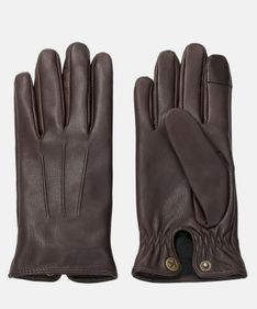 Brązowe rękawiczki męskie