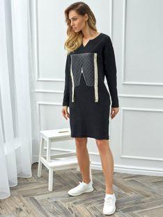 Sukienka prosta z aplikacją Eye For Fashion LIA