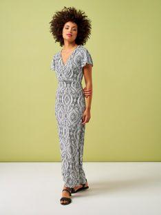 Wzorzysta sukienka maxi Smashed Lemon 20011