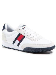 Tommy Jeans Sneakersy Low Profile Mix Runner Retro EM0EM00613 Biały