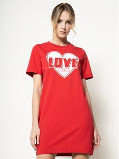 LOVE MOSCHINO Sukienka codzienna W584714E 2124 Czerwony Regular Fit