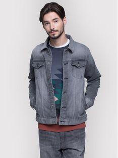 Vistula Kurtka jeansowa Hanagumi XA0707 Szary Regular Fit