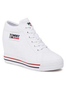Tommy Jeans Sneakersy Wedgr Sneaker EN0EN01346 Biały