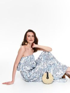 Sukienka maxi w porcelanowy nadruk