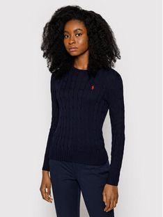Polo Ralph Lauren Sweter Julianna 211580009007 Granatowy Slim Fit