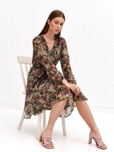 Sukienka rozkloszowana z wiązaniem