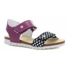 Sandały Bartek W-56183/6Jk, Dla Dziewcząt, Czarno-Szaro-Fioletowy