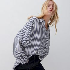 Reserved - Koszula z wiskozy - Niebieski