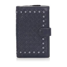 Studded Intrecciato Wallet Leather Calf