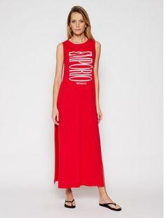 Emporio Armani Sukienka plażowa 262635 1P340 33974 Czerwony Regular Fit