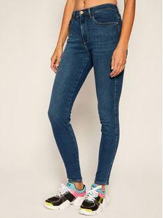 Wrangler Jeansy Skinny Fit High Rise W27HVQX8E Niebieski Skinny Fit