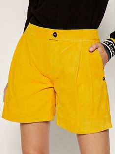 Liu Jo Szorty skórzane C19189 P0338 Żółty Regular Fit