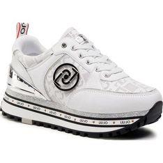 Liu Jo buty sportowe damskie sneakersy białe na platformie wiązane
