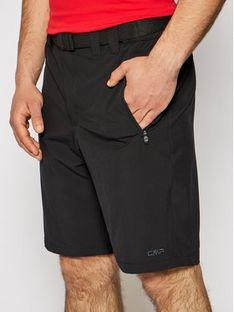 CMP Szorty sportowe 3T51847 Czarny Regular Fit