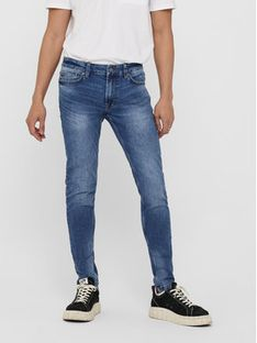 ONLY & SONS Jeansy Warp 22018256 Granatowy Skinny Fit
