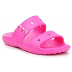 Klapki Crocs Classic Sandal Jr 206761-6QQ różowe