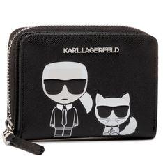 Mały Portfel Damski KARL LAGERFELD - 201W3202 Black