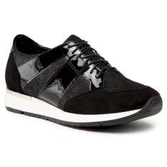 Sneakersy SAGAN - 4454 Czarny Welur/Czarny Lakier