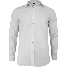 Koszula męska biała Grzegorz Moda elegancka z długim rękawem