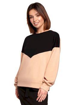 Bawełniana Bluza w Panele Kolorystyczne - Model 3