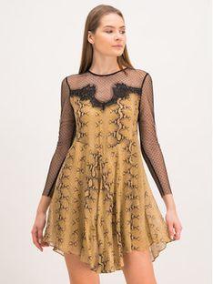 TwinSet Sukienka codzienna 192TT2273 Brązowy Regular Fit