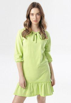 Limonkowa Sukienka Morgalla