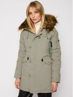 Alpha Industries Parka Explorer 143048 Zielony Regular Fit