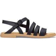 Sandały damskie Crocs z gumy płaskie z klamrą letnie bez obcasa casualowe
